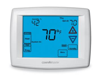 Comfort Sentry 4/2 Touchscreen Thermostat w/Humidity Control